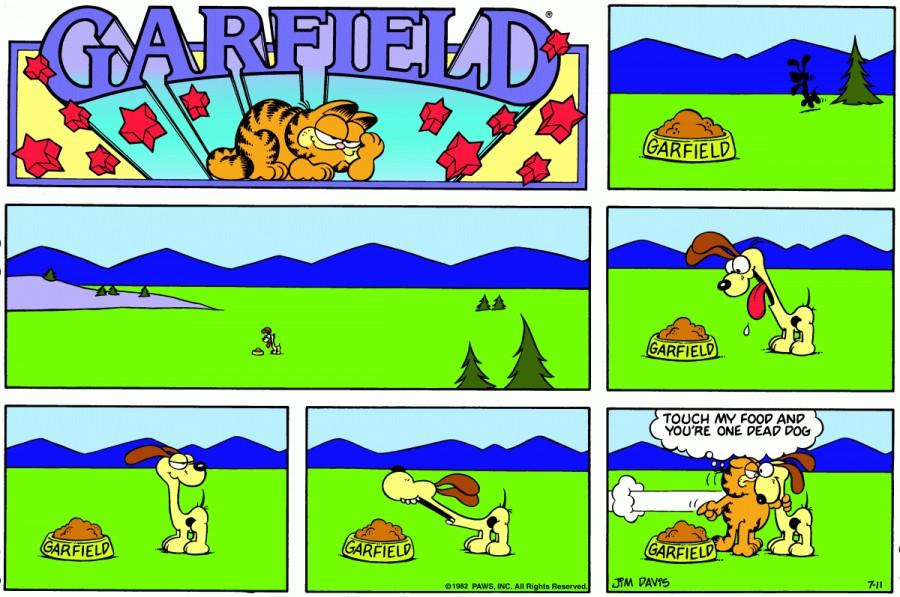 Оригинал комикса про Гарфилда от 11 июля 1982 года