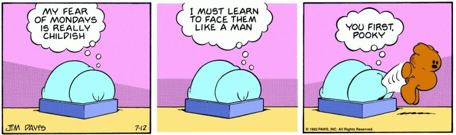 Оригинал комикса про Гарфилда от 12 июля 1982 года