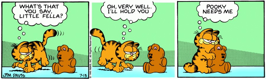 Оригинал комикса про Гарфилда от 13 июля 1982 года