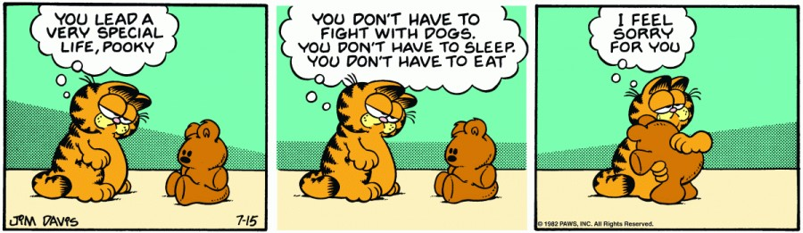 Оригинал комикса про Гарфилда от 15 июля 1982 года