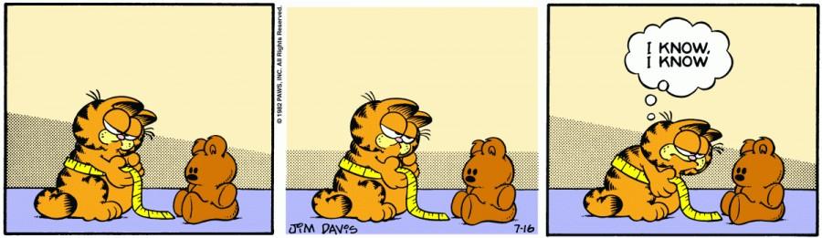 Оригинал комикса про Гарфилда от 16 июля 1982 года
