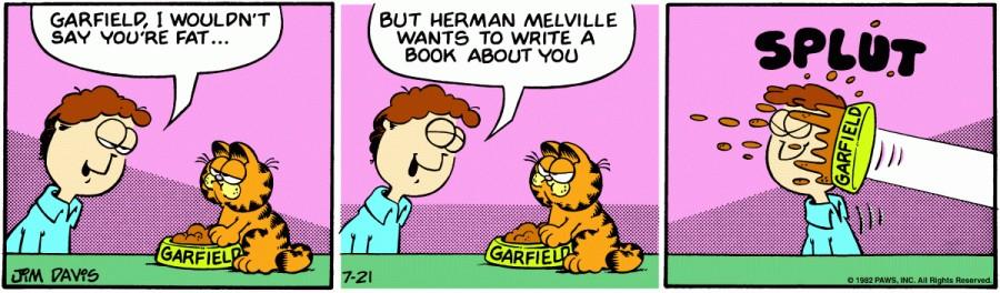 Оригинал комикса про Гарфилда от 21 июля 1982 года