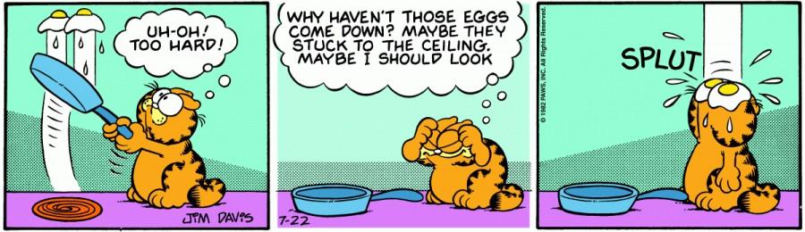 Оригинал комикса про Гарфилда от 22 июля 1982 года