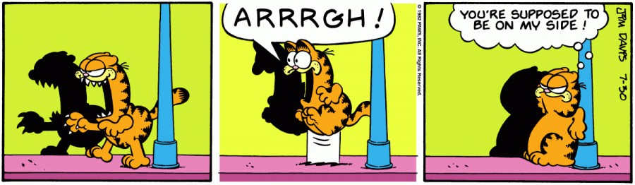Оригинал комикса про Гарфилда от 30 июля 1982 года