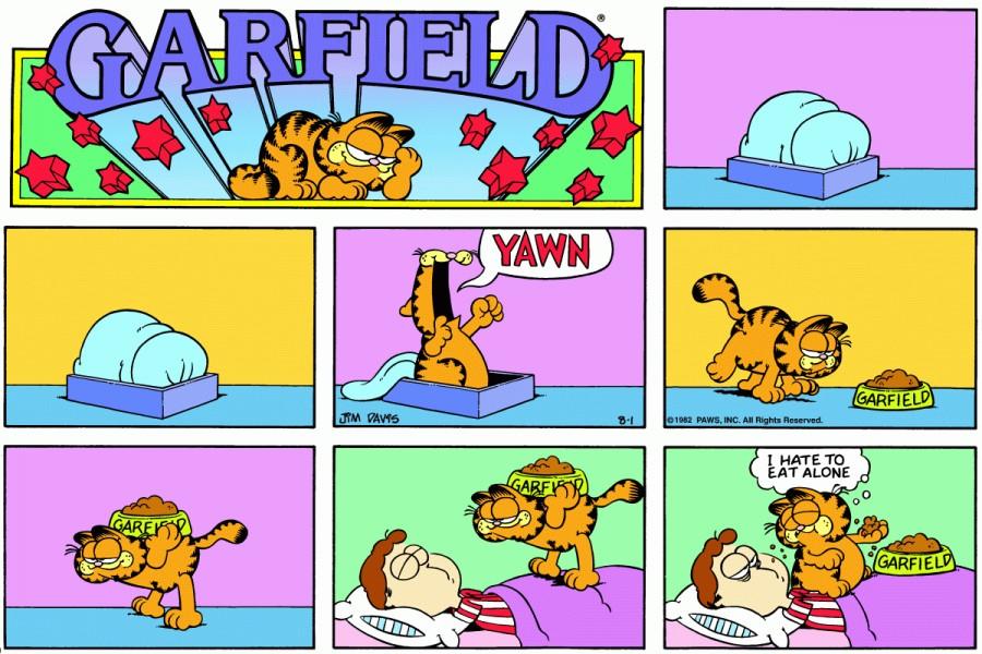 Оригинал комикса про Гарфилда от 01 августа 1982 года