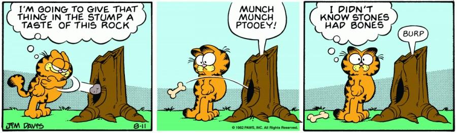 Оригинал комикса про Гарфилда от 11 августа 1982 года