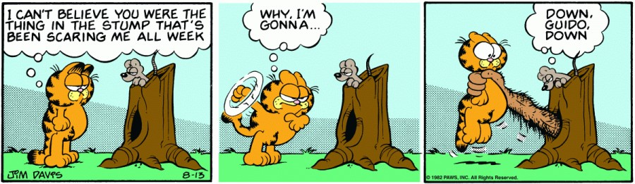 Оригинал комикса про Гарфилда от 13 августа 1982 года