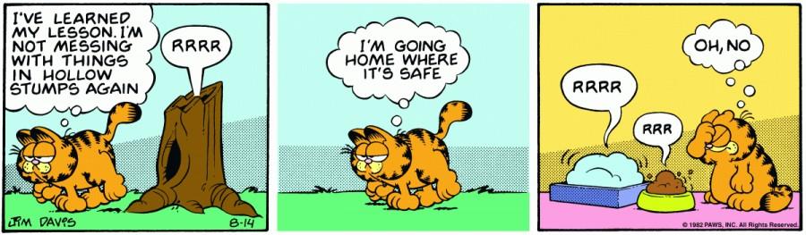 Оригинал комикса про Гарфилда от 14 августа 1982 года