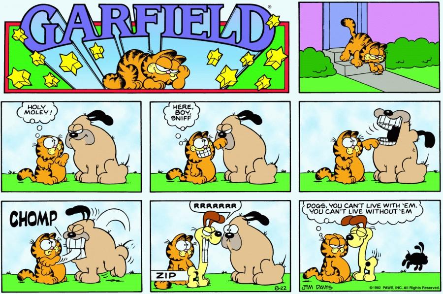 Оригинал комикса про Гарфилда от 22 августа 1982 года