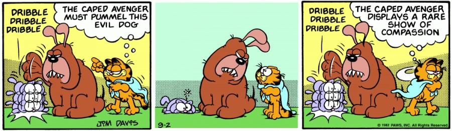 Оригинал комикса про Гарфилда от 02 сентября 1982 года