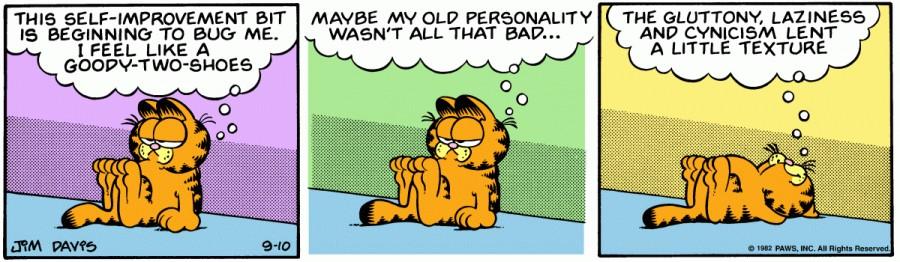 Оригинал комикса про Гарфилда от 10 сентября 1982 года