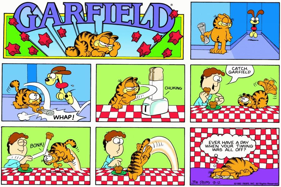 Оригинал комикса про Гарфилда от 12 сентября 1982 года