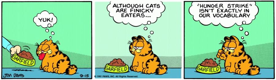 Оригинал комикса про Гарфилда от 15 сентября 1982 года