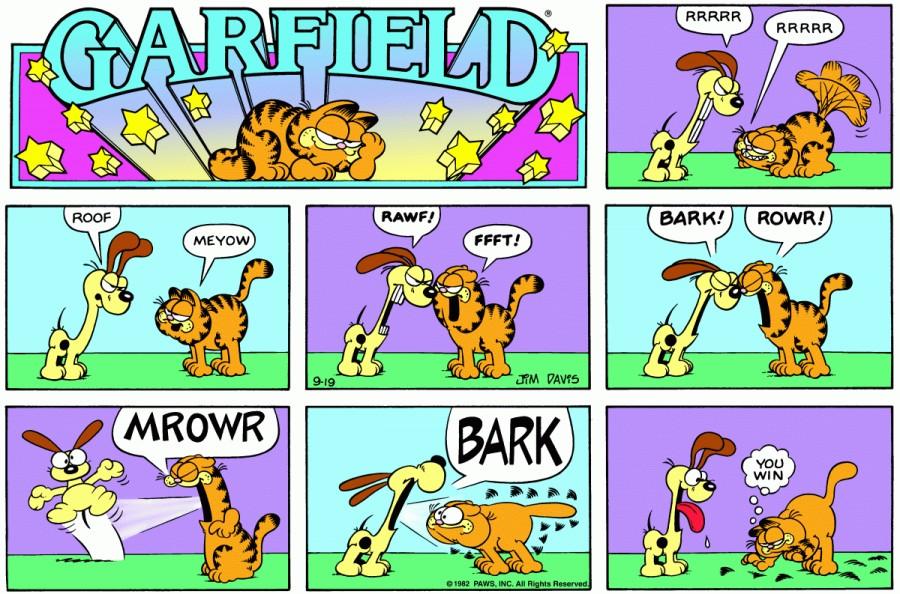 Оригинал комикса про Гарфилда от 19 сентября 1982 года