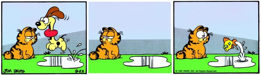 Оригинал комикса про Гарфилда от 22 сентября 1982 года