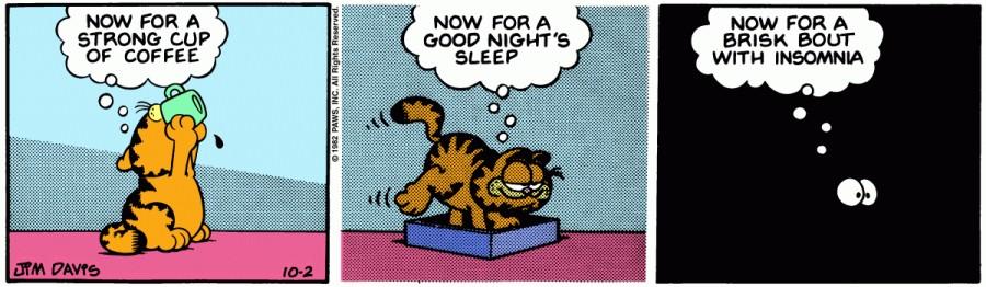 Оригинал комикса про Гарфилда от 02 октября 1982 года