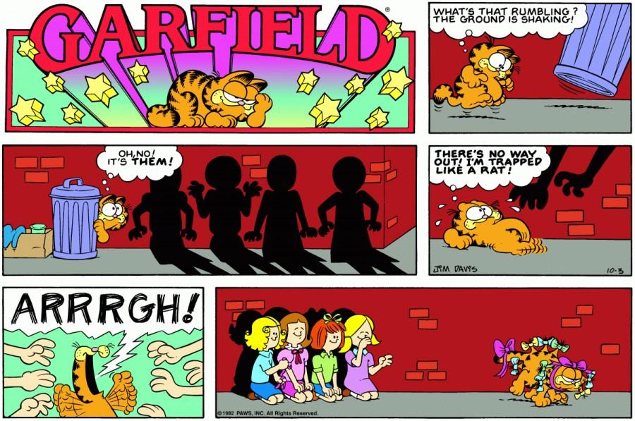 Оригинал комикса про Гарфилда от 03 октября 1982 года