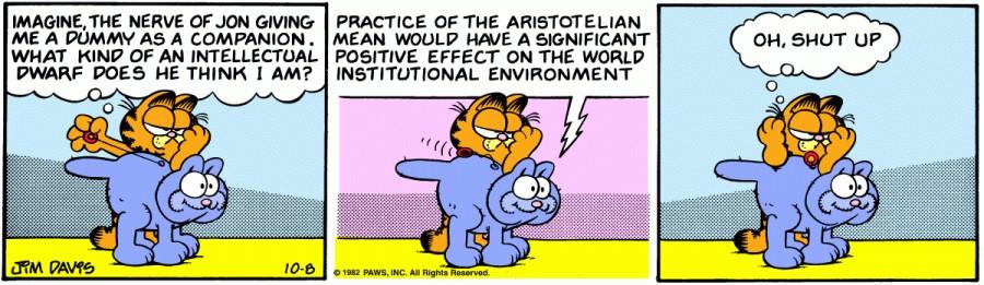 Оригинал комикса про Гарфилда от 08 октября 1982 года
