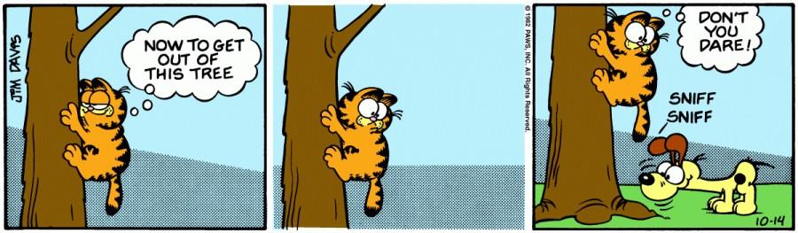 Оригинал комикса про Гарфилда от 14 октября 1982 года