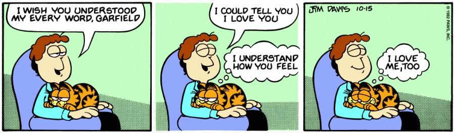 Оригинал комикса про Гарфилда от 15 октября 1982 года