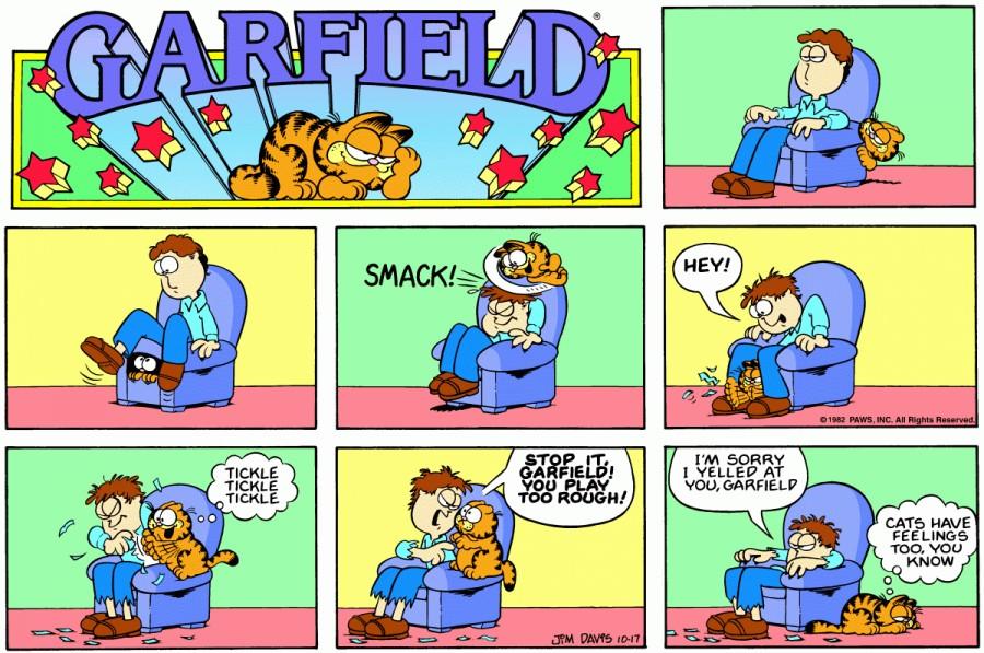 Оригинал комикса про Гарфилда от 17 октября 1982 года