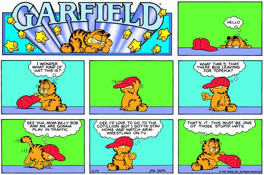 Оригинал комикса про Гарфилда от 24 октября 1982 года