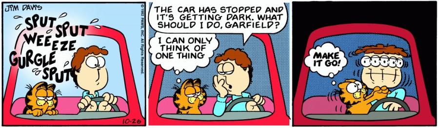 Оригинал комикса про Гарфилда от 26 октября 1982 года