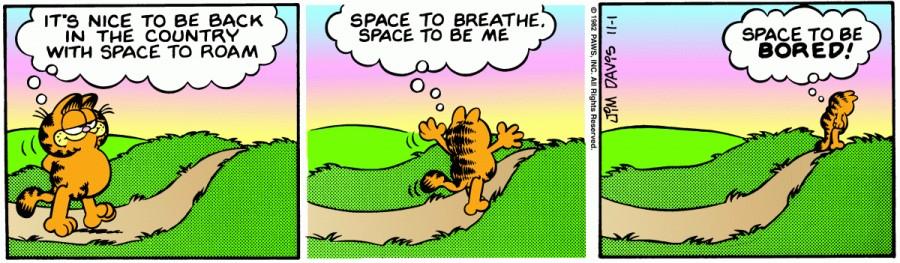 Оригинал комикса про Гарфилда от 01 ноября 1982 года