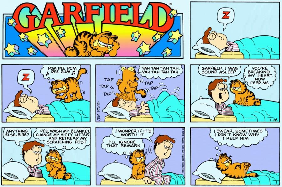 Оригинал комикса про Гарфилда от 28 ноября 1982 года