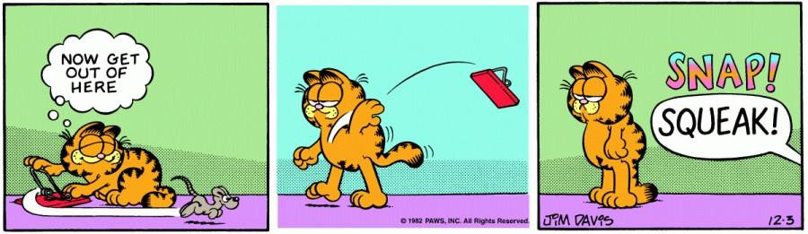 Оригинал комикса про Гарфилда от 03 декабря 1982 года