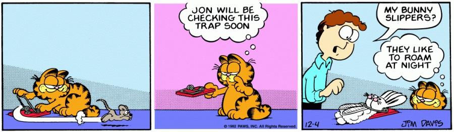 Оригинал комикса про Гарфилда от 04 декабря 1982 года