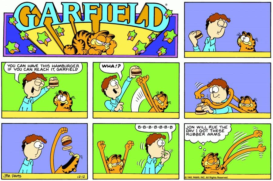 Оригинал комикса про Гарфилда от 12 декабря 1982 года