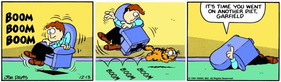 Оригинал комикса про Гарфилда от 13 декабря 1982 года