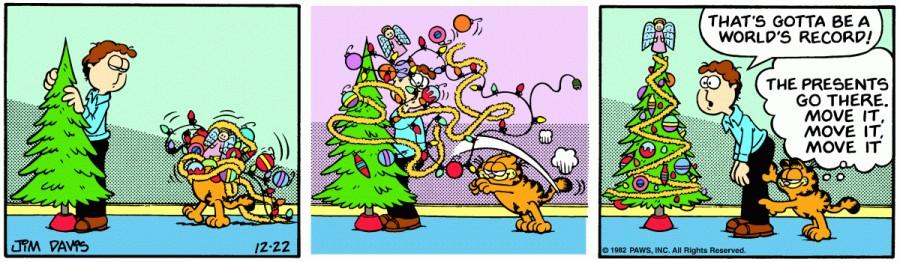 Оригинал комикса про Гарфилда от 22 декабря 1982 года