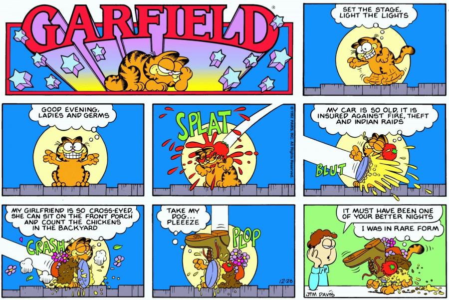 Оригинал комикса про Гарфилда от 26 декабря 1982 года