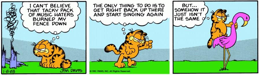 Оригинал комикса про Гарфилда от 08 января 1983 года