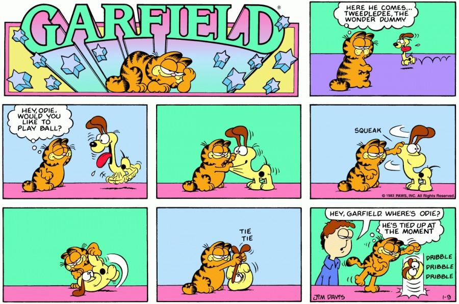 Оригинал комикса про Гарфилда от 09 января 1983 года