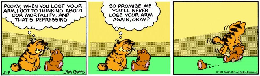Оригинал комикса про Гарфилда от 04 февраля 1983 года