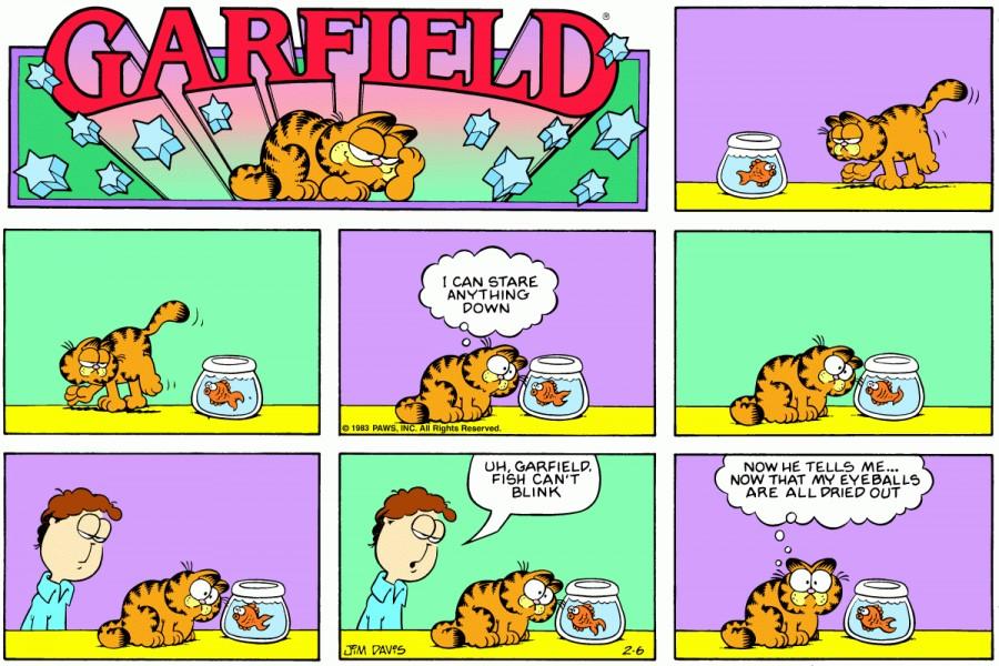 Оригинал комикса про Гарфилда от 06 февраля 1983 года