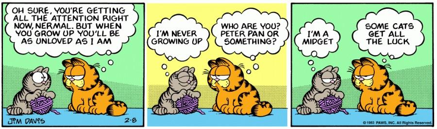 Оригинал комикса про Гарфилда от 08 февраля 1983 года