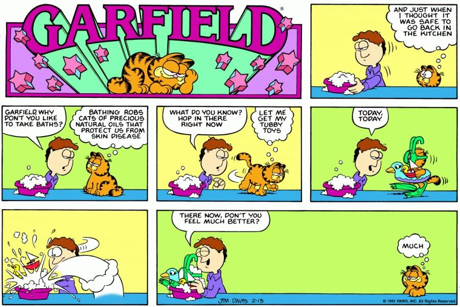 Оригинал комикса про Гарфилда от 13 февраля 1983 года
