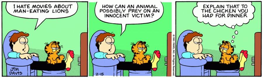 Оригинал комикса про Гарфилда от 15 февраля 1983 года