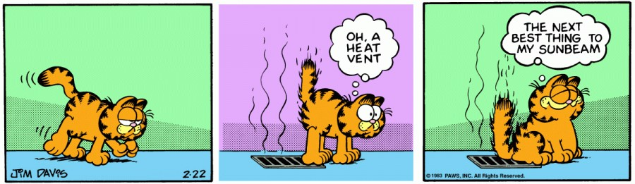 Оригинал комикса про Гарфилда от 22 февраля 1983 года
