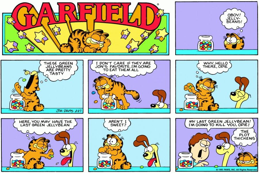 Оригинал комикса про Гарфилда от 27 февраля 1983 года