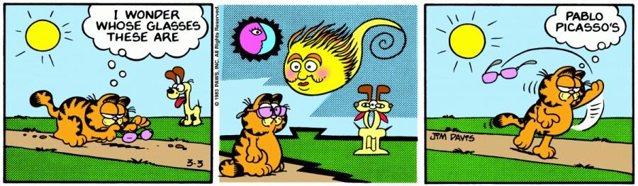Оригинал комикса про Гарфилда от 03 марта 1983 года