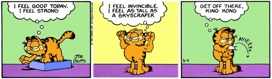 Оригинал комикса про Гарфилда от 04 марта 1983 года