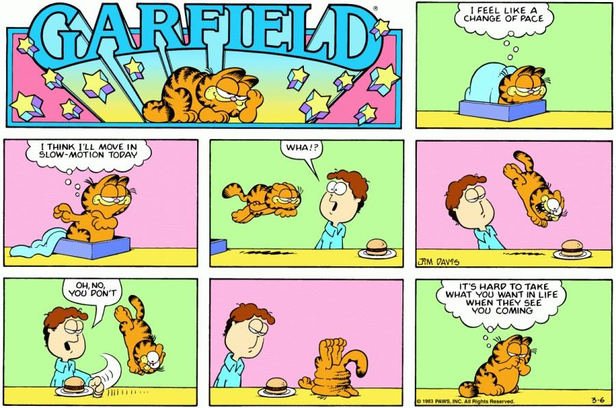 Оригинал комикса про Гарфилда от 06 марта 1983 года