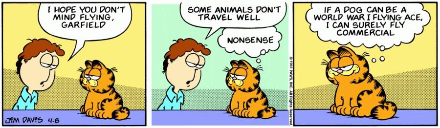 Оригинал комикса про Гарфилда от 08 апреля 1983 года