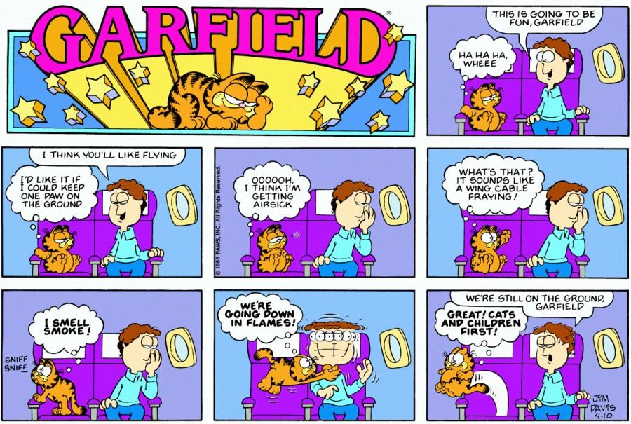 Оригинал комикса про Гарфилда от 10 апреля 1983 года