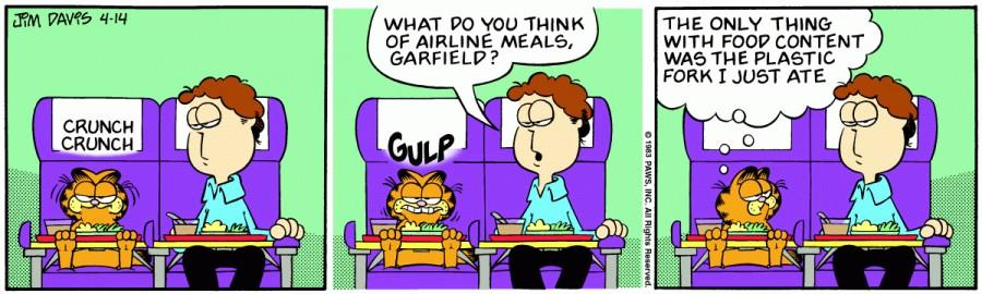 Оригинал комикса про Гарфилда от 14 апреля 1983 года